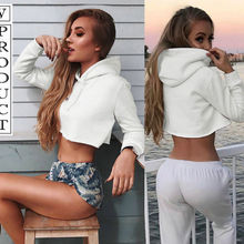 New Women Long Sleeve White Hoodie Loose Pullover S