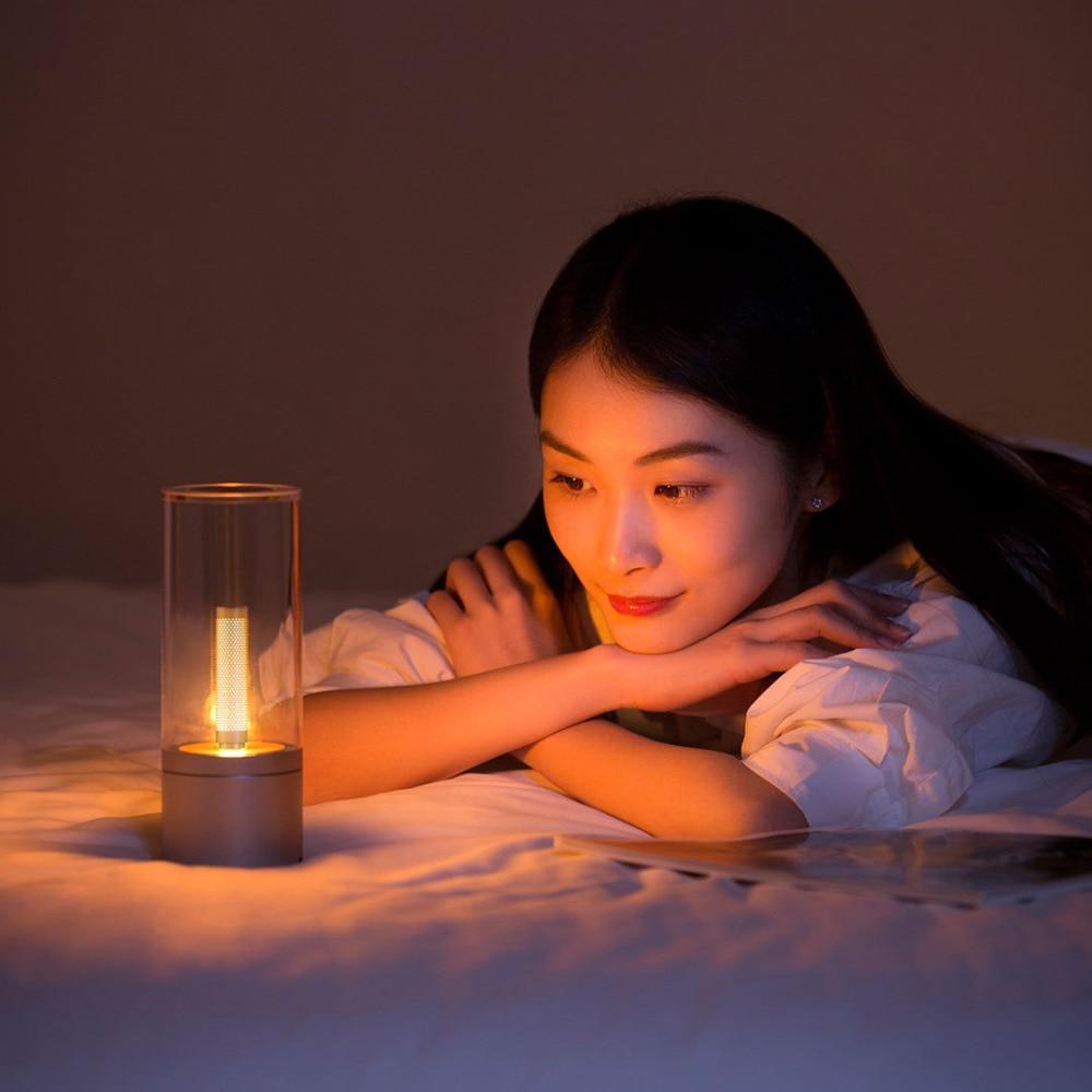 Xiaomi YEELIGHT YLFW01YL Candela, Rechargable Smart LED Candle Ambiance Bluetooth App Rotate Control, Night Light Bedside Lamp