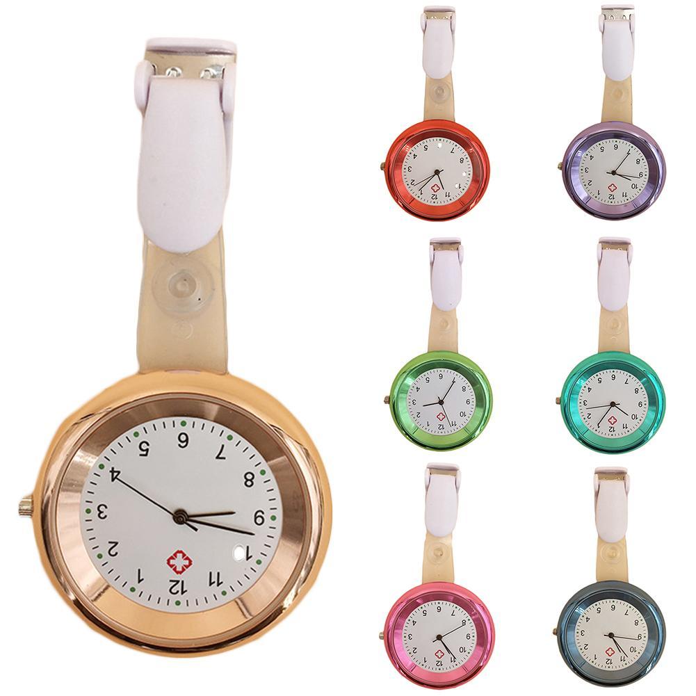 Practical Round Dial Arabic Numerals Analog Quartz Clip On Designed Nurse Medical Watch Unisex Doctor Watch карманные часы