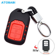 ATOBABI 3 Buttons Car Key Case For Honda Vezel City Civic Jazz BRV BR-V HRV ABS Silicone Combined Remote Fobs Cover Accessories(China)