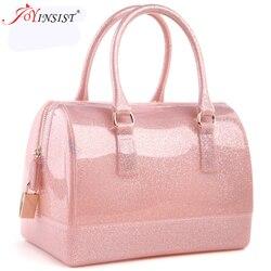 Bolsas femininas bolsa de couro nova geléia doce travesseiro superior bolsa colorida
