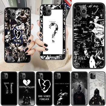 Hot Rapper XXXTentacion Phone Case Cover Hull For iphone 5 5s se 2 6 6s 7 8 12 mini plus X XS XR 11 PRO MAX black silicone cover image