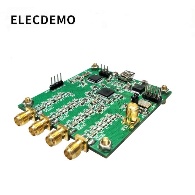 AD9959 מודול RF אות גנרטור ארבעה ערוץ DDS מודול בהוראה סידורי פלט לטאטא תדר AM אות גנרטור