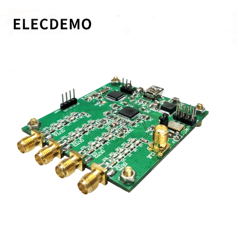 AD9959 Module RF Signal Generator Four Channel DDS Module AT Instruction Serial Output Sweep Frequency AM Signal-Generator