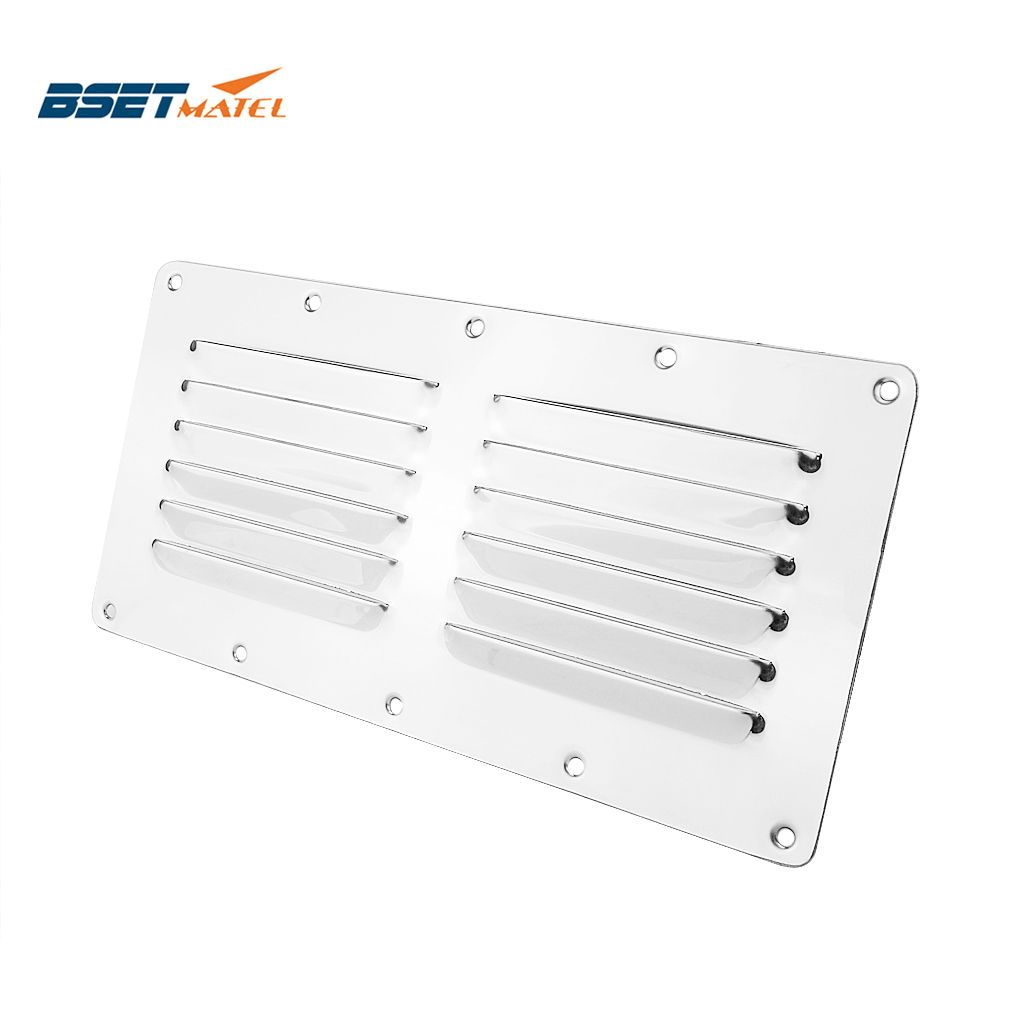 Marine Grade Stainless Steel 304 Boat Marine Square Air Vent Louver Vent Grille Ventilation Louvered Ventilator Grill Cover