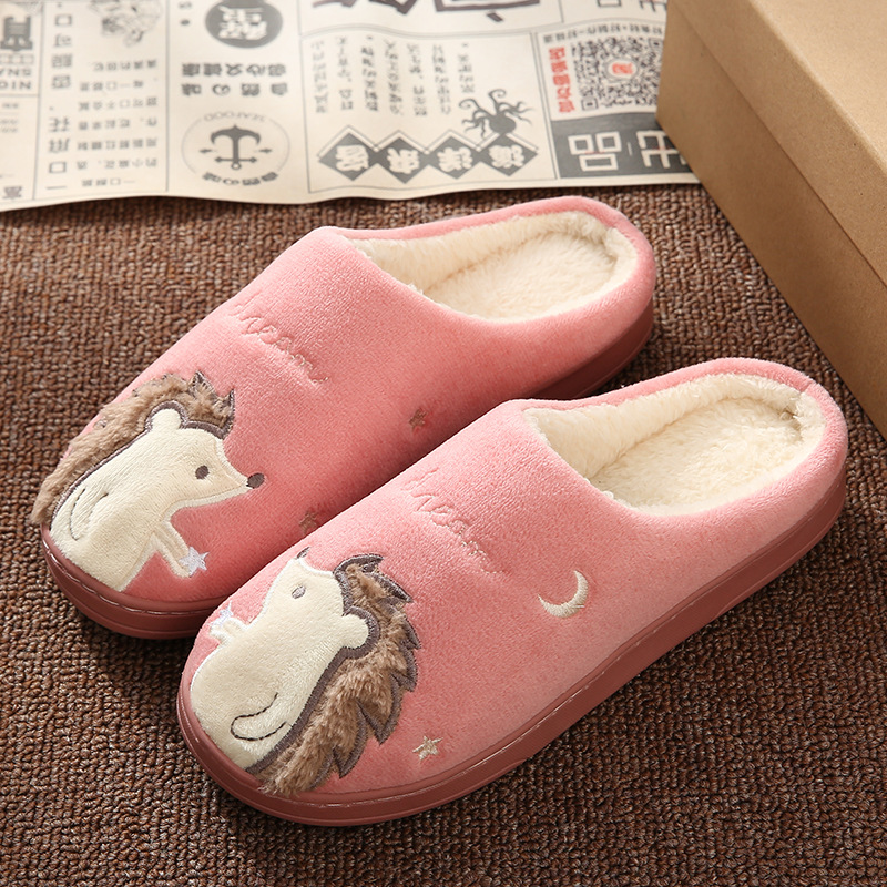 Women Winter Home Slippers Cartoon Cat Shoes Non-slip Soft Winter Warm House Slippers Indoor Bedroom Lovers Couples Floor Shoes 5