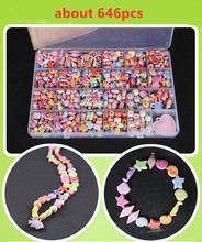 Bracelet Plastic DIY Acrylic Beads Kit Accessories Girls Toys Jewelry Making Kids Beads Set Latest Charming Necklaces New