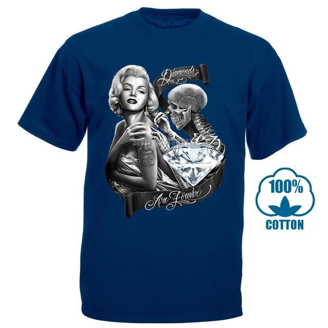 Marilyn Monroe Diamonds Are Forever Skeleton Skull Schädel T-Shirt All Sizes
