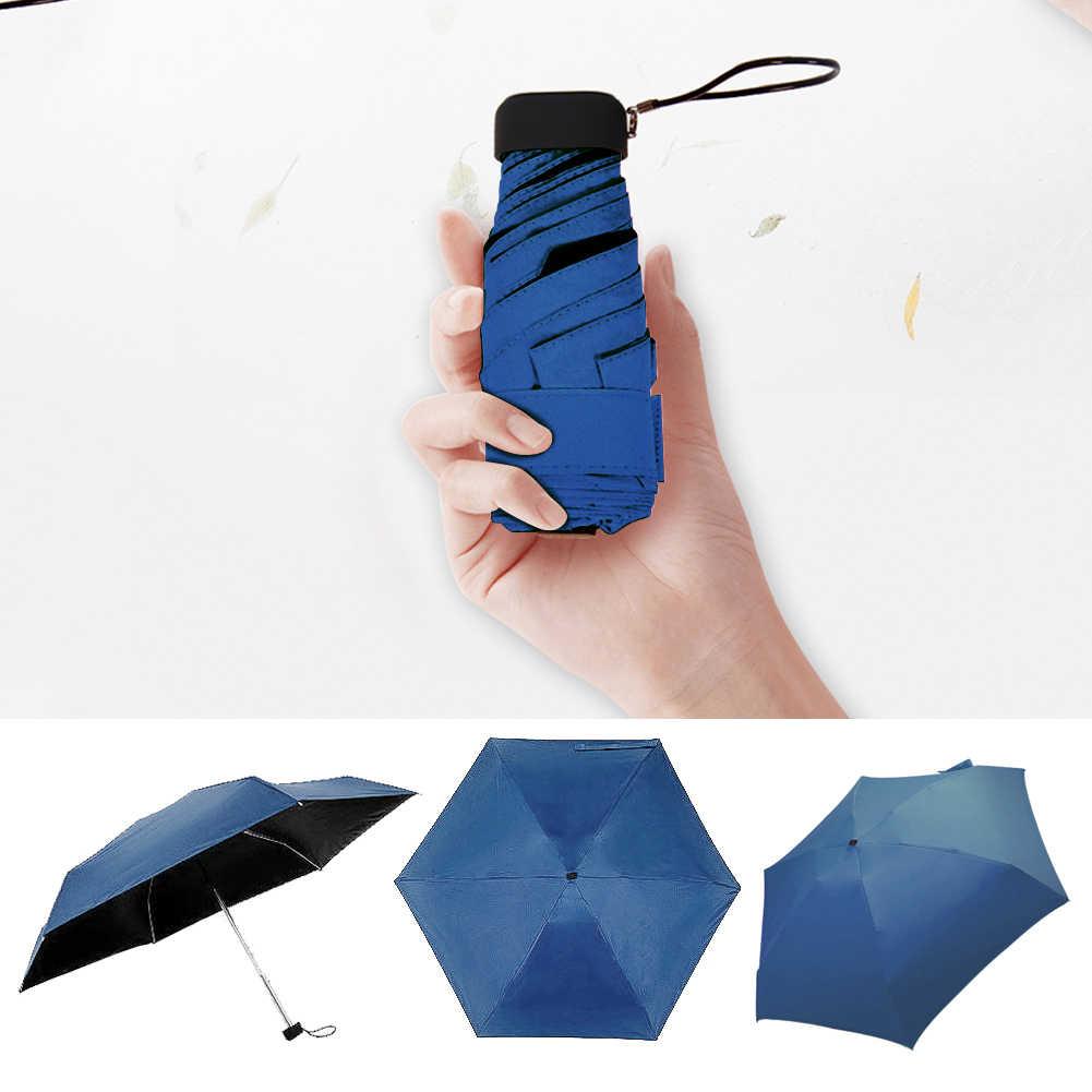 Mini poche Parapluie femmes UV petits parapluies 180g pluie femmes imperméable hommes soleil Parasol pratique filles voyage Parapluie enfant