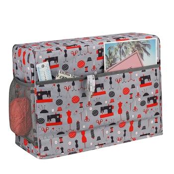 Pokrywa maszyny do szycia z woreczkiem ochronnym pikowana osłona przeciwpyłowa z kieszeniami Dropshipping tanie i dobre opinie CN (pochodzenie) Poliester bawełna