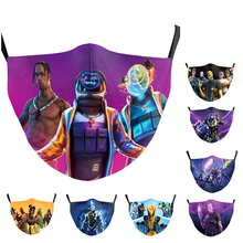 Fabric-Masks Washable FILTER Mouth-Caps Print Cosplay Anime Adult Game PM2.5 Kids