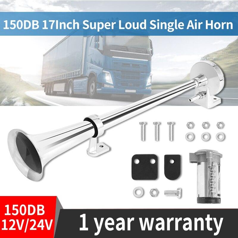 Воздушный гудок Hippcron, 150 дБ 12 В, мощный компрессор, полный комплект, для грузовиков, автомобилей, лодок, поездов