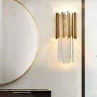 Manggic Modern led wall light creative design gold home decoration wall lamp bedside lamp AC110 240V