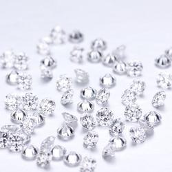 20 adet/paket Lab Grown gevşek elmas DEF renk VS-VVS netlik yuvarlak 1.45mm CVD/HPHT elmas testi pozitif Lab elmas