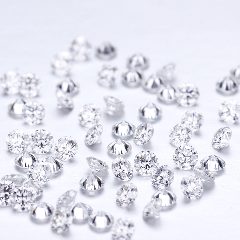 Lab-Grown Lab Diamond Round F Clarity Test-Positive Def-Color VS-VVS CVD/HPHT 20pcs/Pack title=