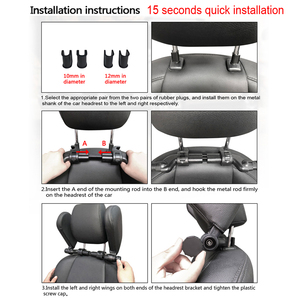 Image 5 - Poduszka podróżna na kark, rozwiązanie do samochodu, do odpoczynku, dla dzieci i dorosłych, na siedzenie samochodowe