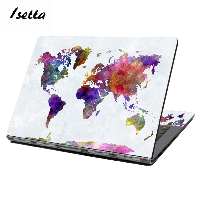 World Map Laptop Skin 15.6 Dell Laptop Stickers 13