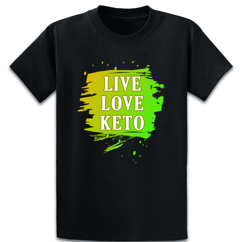 Live Love Keto T Shirt Funny Summer Fit Tee Shirt Cool O Neck Knitted Outfit Shirt