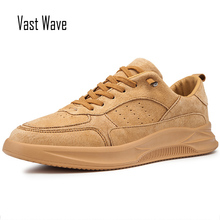 VastWave Suede Mens Shoes Breathable Comfortable Casual Slip