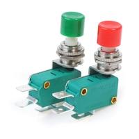 1Pc DS-438 momentáneo rojo/Verde empujar accionador de botón Interruptor de Límite Micro 12mm Botón de trabajo de tensión 250V