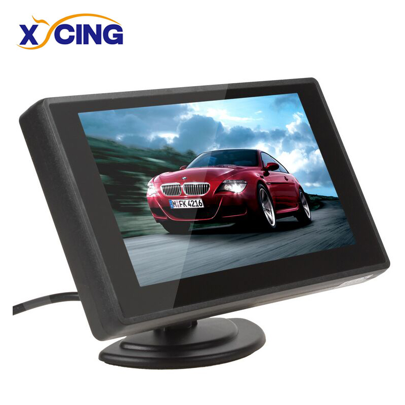XYCING 4.3 Cal Monitor samochodowy tft lcd monitora wyświetlacz kamera cofania system parkowania dla wyświetlacz tyłu samochodu monitory NTSC PAL