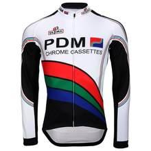 Clássico inverno retro velo térmico ou fino pdm novas mangas compridas camisa de ciclismo osscrolling