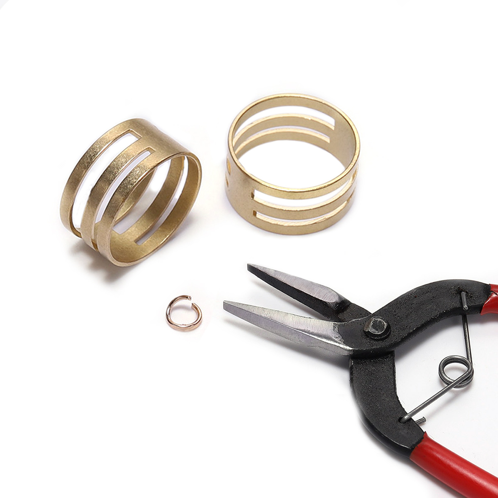 2pcs/lot Copper Open Split Jump Rings Closing Finger Jewelry Tools For DIY Making Craft Circle Bead Pliers Opening Helper Tools