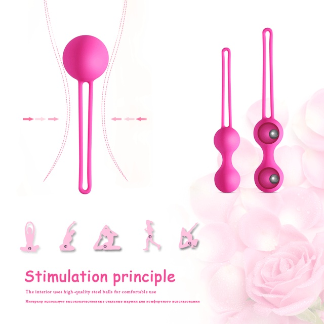 Medical Silicone Vibrator Kegel Balls Exercise Tightening Device Balls Safe Ben Wa Ball for Women Vaginal massager Adult toy 1