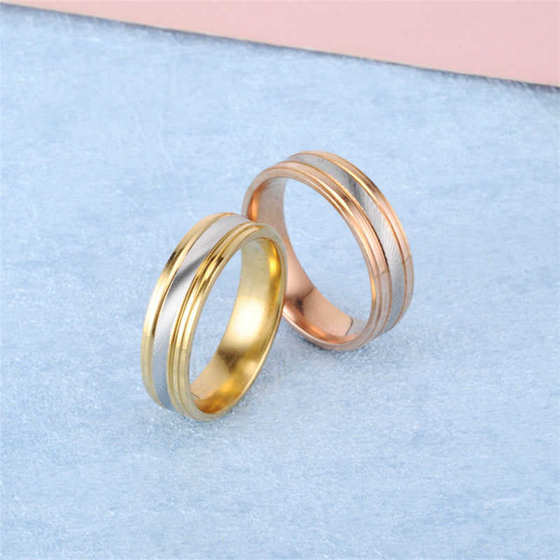 2019 Stainless Steel Rings For Women Wedding Promise Ring For Couples  Male Ring Jewelry Female Accessories Engagement Rings Men