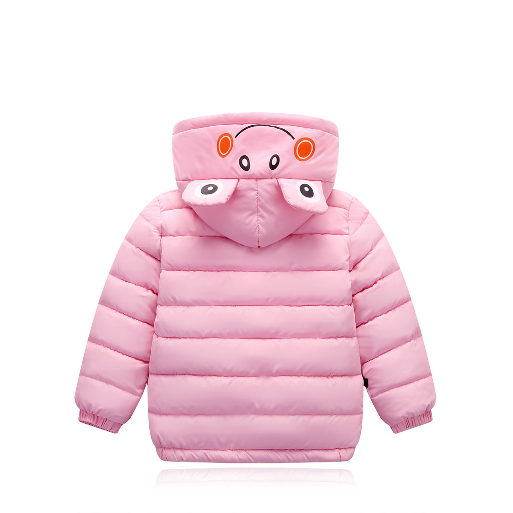 Toddler Kids Baby Boy Girl Winter Jacket Warm Thick Animal Cartoon Hooded Outfit Outwear