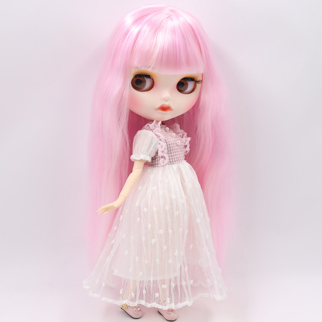 Ella – Premium Custom Blythe Doll with Full Outfit Pouty Face