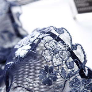 Image 5 - Acousma 女性ブラジャーのレースの刺繍ブリーフパンティセット超薄型セクシーな下着透明なパンティーランジェリーブラジャーシースルー