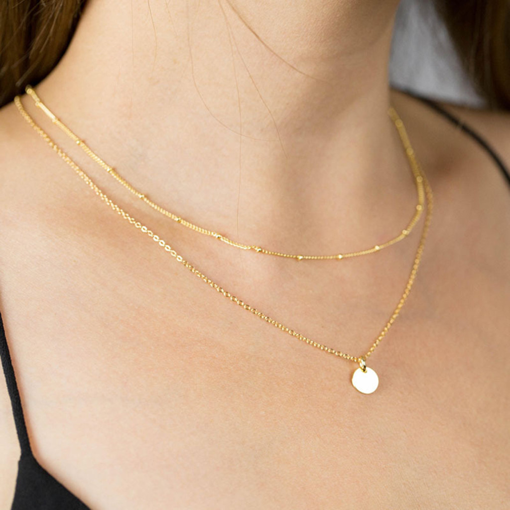 Hot Offer 3bc2 Necklace Women Jewelry Long Chain Gold Necklace