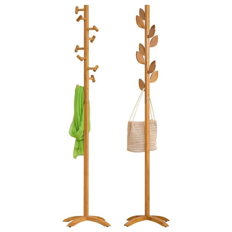 Simple Modern Coat Rack Floor Solid Wood Hanging Racks Simple Bedroom Home Clothes Storage