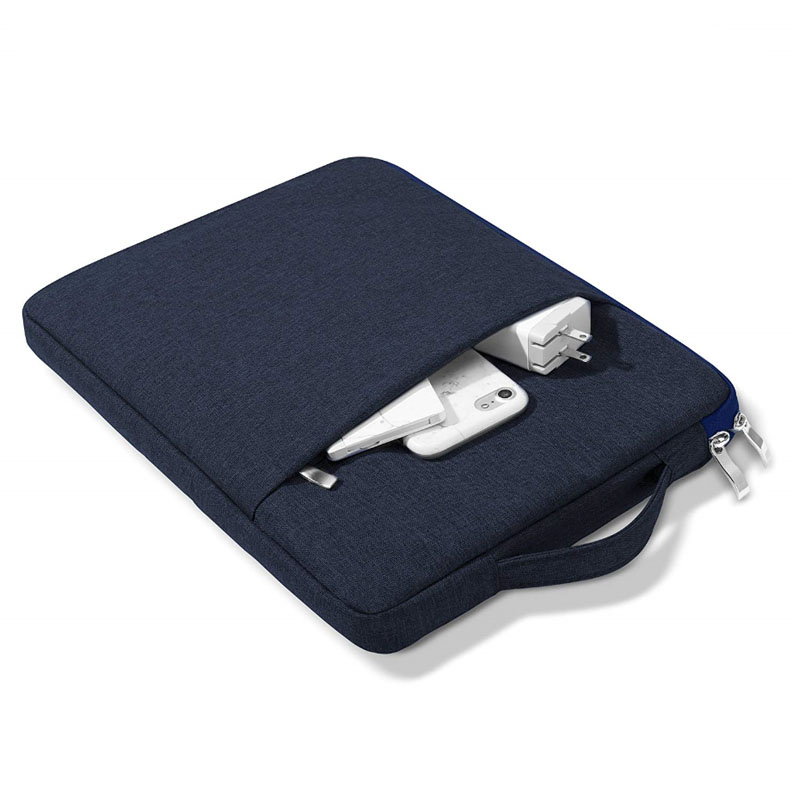 dark blue White For iPad 10 2inch 2020 8th Generation Tablet Handbag Zipper Carrying Bag Compatible 2019 7th 10
