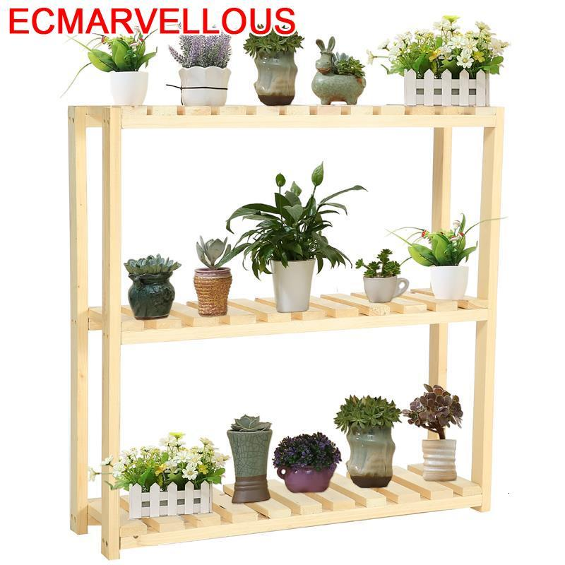 Interior For Escalera Decorativa Madera Terraza Estante Para Flores Stojak Na Kwiaty Balcony Flower Shelf Dekoration Plant Stand
