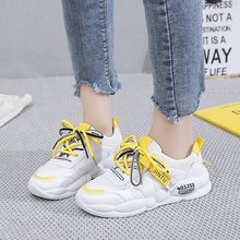 2019 New Fashion Women Sneakers Lover Casual Shoes Breathable Mesh Platform Lace Up Flat