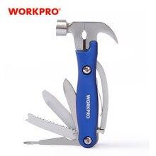 WORKPRO 12 w 1 wielofunkcyjne szczypce zestaw narzędzi ręcznych szczypce do zdejmowania izolacji młotek z nóż składany piła plik śrubokręt narzędzia kempingowe nowy
