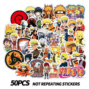 10/30/50 Pcs Classic Cartoon Anime NARUTO Waterproof Kids Stickers Skateboard Suitcase Guitar Graffiti DIY Sticker Children Toys
