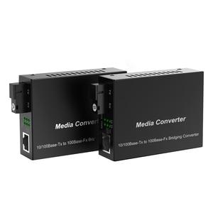 Image 5 - 1 para optyczny konwerter światłowodowy 10/100M jednomodowy Simplex Transceiver światłowodowy pojedynczy konwerter światłowodowy 1310/1550nm 20km SC