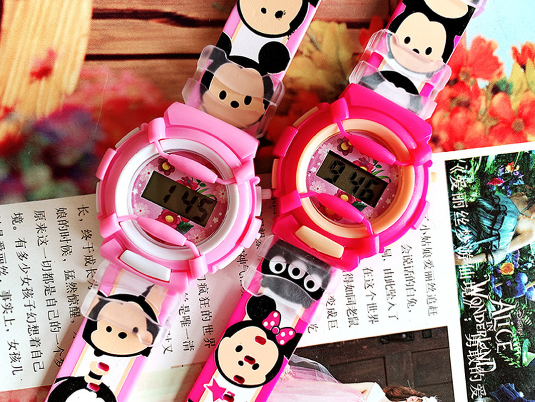 2019 New Rice You Cartoon Silicone Strap Children Watch Sports Watch Electronic Watch Girls Leisure Primary School Watch