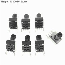 10pcs RV09 Horizontal12.5mm Shaft 1k 2k 5k 10k 20k 50k 100k 0932 Adjustable Resistor 9 Type 3pin Seal Potentiometer