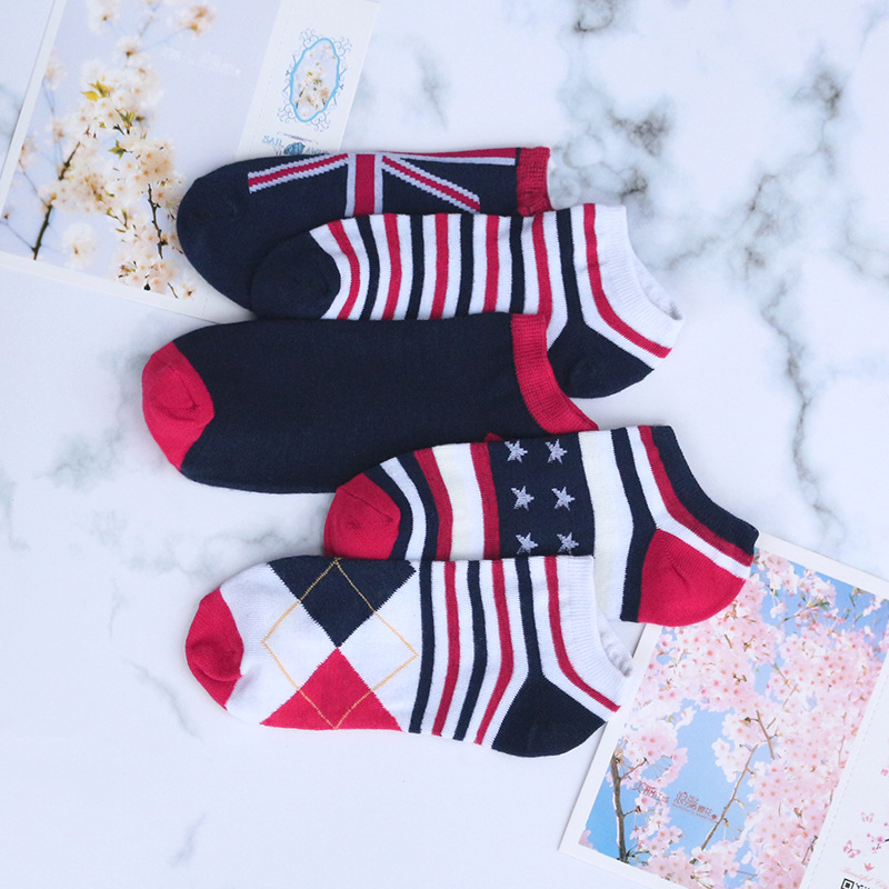 2019 Promotion Compression Socks Autumn And Winter New Warm Men's Socks Color Matching Wild Men Sweat-absorbent Wear Invisible