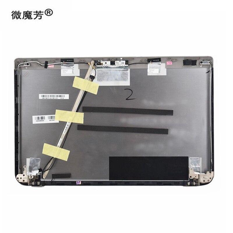"""NEW Toshiba Satellite C855 C855D LCD Back Cover 15.6/"""" V000270530 Black W Hinges"""