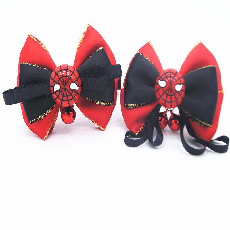 Two-Selectable Handmade Bow Bell Pet Collar Dog Traction Bowtie