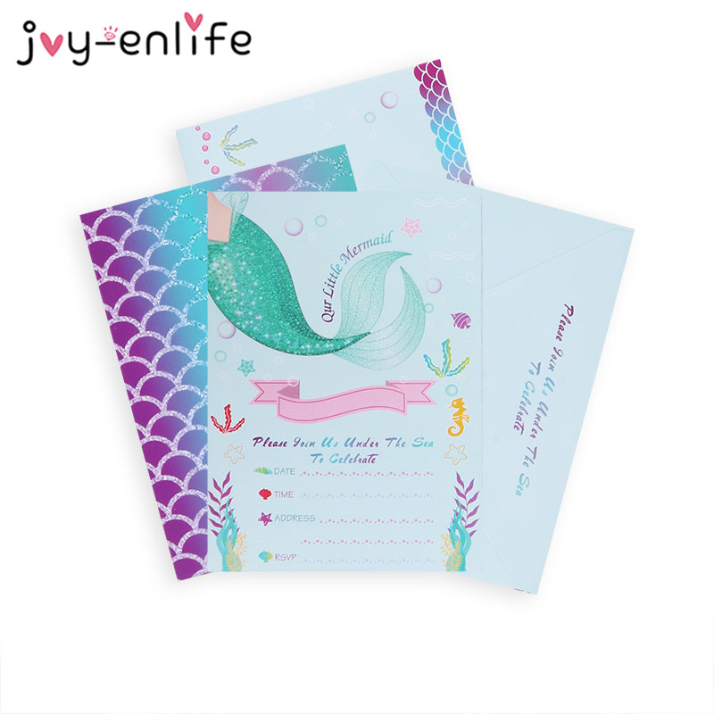 Little Mermaid Party Invitation Cards