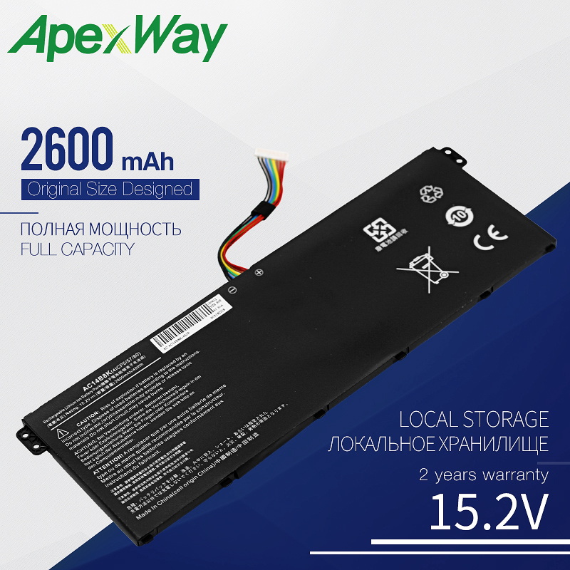 Laptop Battery AC14B8K For Acer Aspire E3-111 E3-721 E5-771 E5-771G ES1-311 ES1-711 V3-111 V3-112 V3-112P Chromebook C810 C910