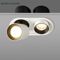 Simple/doble cabeza LED Downlight W 7W 10W 20W 24W luz lez empotrada iluminación dormitorio cocina interior estirable LED lámpara de techo|LED empotrados| |  -