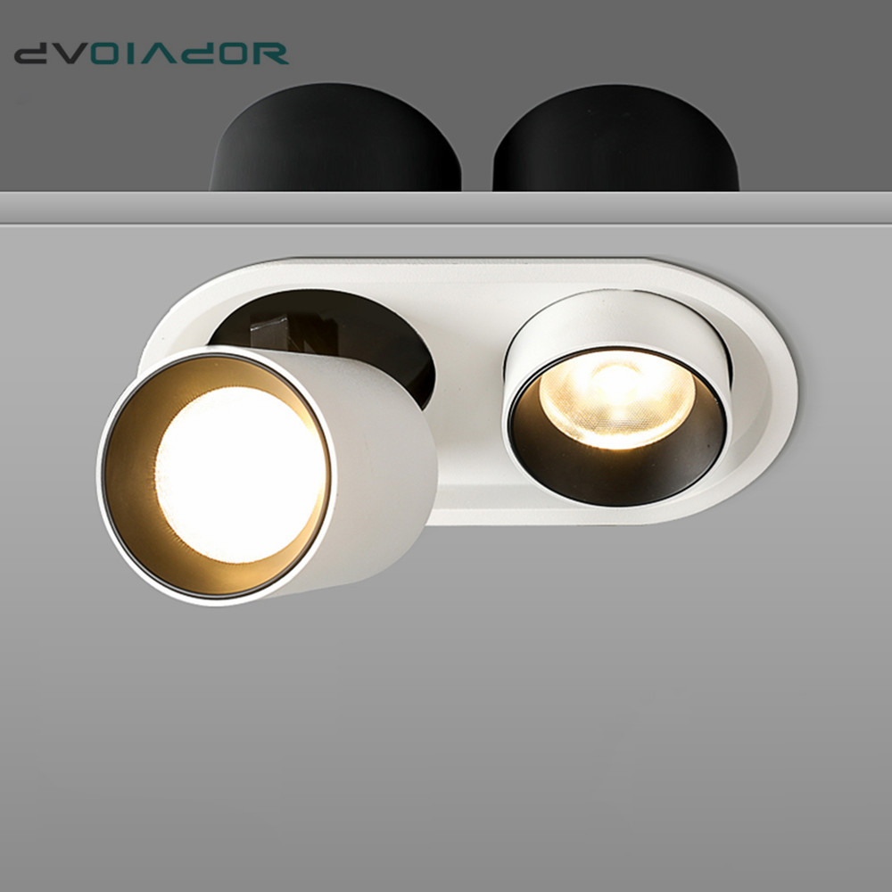 86-265V 9W GU10 3 Heads LED Ceiling Light Downlight Recessed Lamp for Wall Living Room Bathroom Bedroom Decor Ceiling Light Recessed Downlight