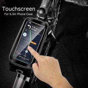 Image 2 - X TIGER torba na rower rama przednia górna rura torba na rower odblaskowa 6.5in etui na telefon ekran dotykowy akcesoria do toreb wodoodporna torba na rower torba na rower